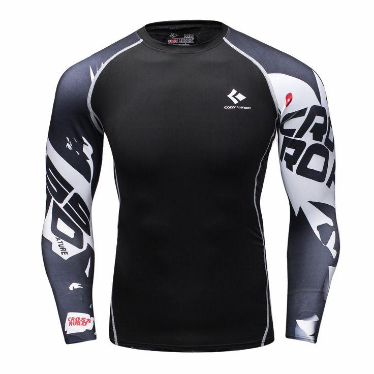 メンズ圧縮シャツボディービルskinタイト長袖ジャージ衣類mmaクロスフィットネスエクササイズワークアウトフィットネススポーツウェア