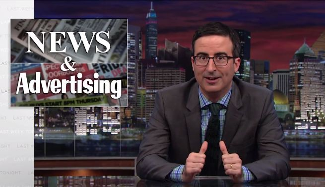 This Native Ads Rant Is Brought to You by John Oliver's New HBO Show