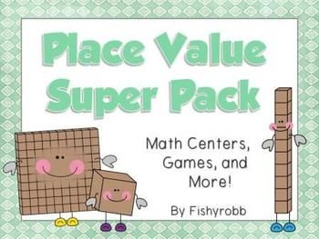 12 games, activities, and math centers for teaching Place Value through the hundreds