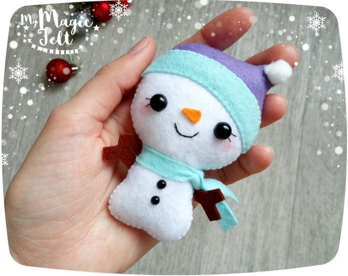 Christmas Ornaments felt Snowman ornament Christmas decorations ornament felt Christmas Tree ornaments cute Snowman Christmas gifts