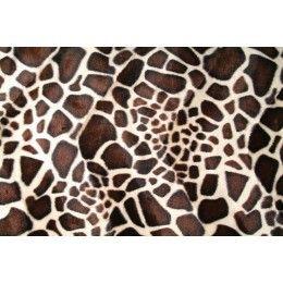Kožešina de Luxe čalounická, žirafa, látky, metráž