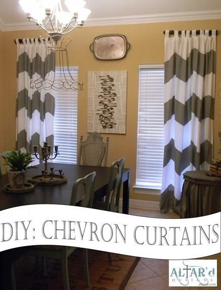 DIY Chevron Curtains Tutorial... great tips, love this blog...