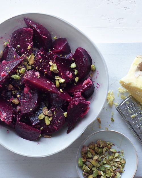 Beet Salad with Ginger Dressing Grade: A Review: what an addition to our Passover dinner table. The best beet salad we've ever had.