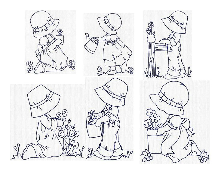 sunbonnet sue embroidery patterns | Instant Download Machine Embroidery Sunbonnet Sue in the Garden ...