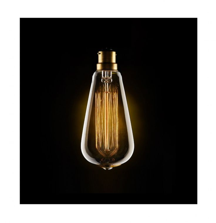 Vintage Style Filament Light Bulb 'Squirrel Cage' with Bayonet Cap Fitting