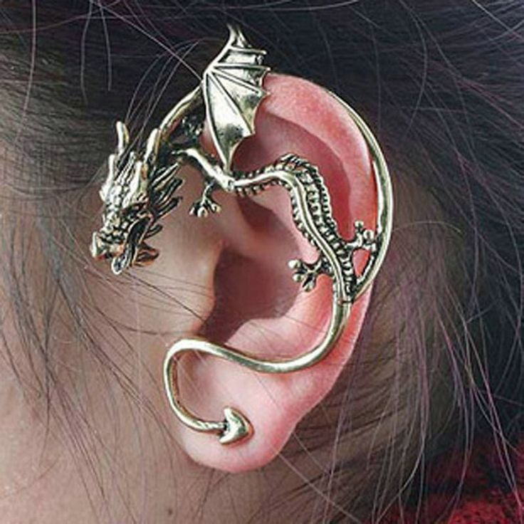 Homod 2017 New fashion Dragon Trendy Jewelry Beautifully Ear Accessories Clip Earring for women Statement Jewelry