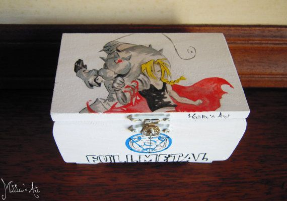 Fullmetal Alchemist box hand painted by Matita's Art