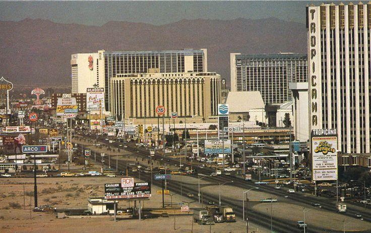 Las Vegas Strip, 1985, between Tropicana and Flamingo Rd.