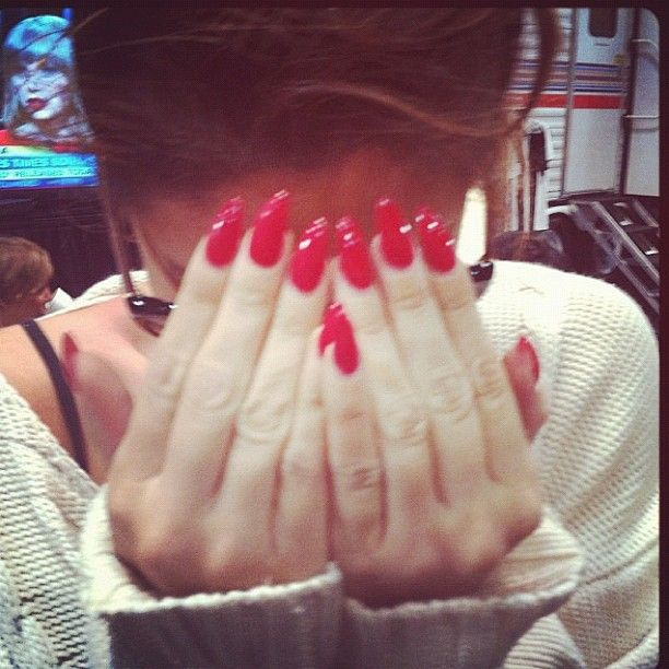 Red Almond Nails | Nails | Pinterest | Almonds, Almond ...