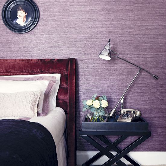 Silver Accent Wall Bedroom Bedroom Colors Brown Furniture Bedroom Furniture Paint Traditional Master Bedroom Decorating Ideas: Lilac Room, Girls Bedroom Purple And Lavender Room