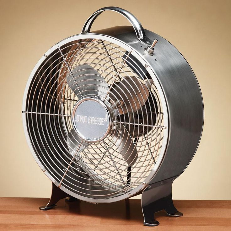 Retro Metal Fan - Stainless