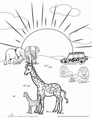 safari coloring page 28 images safari animals coloring pages