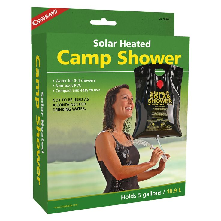 Enjoy a warm shower on a cold day while you're on a camping, hiking, or trekking trip with the Coghlan's Solar Heated Camp Shower.