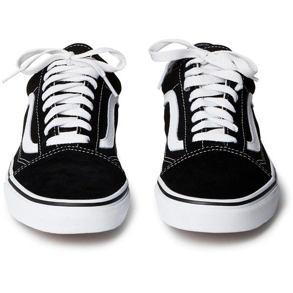 Old skool Black ❤ liked on Polyvore featuring shoes, sneakers, sapatos, vans, low top skate shoes, lacing sneakers, black skate shoes, lace up sneakers and low top