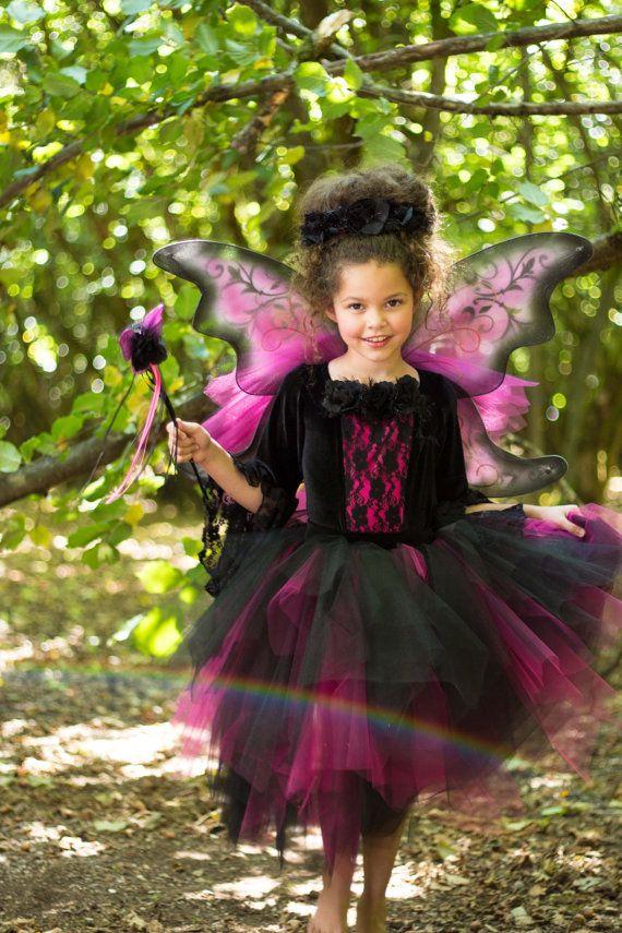 Gothic Fairy Costume Halloween Dark Lace Fairy Tutu by EllaDynae