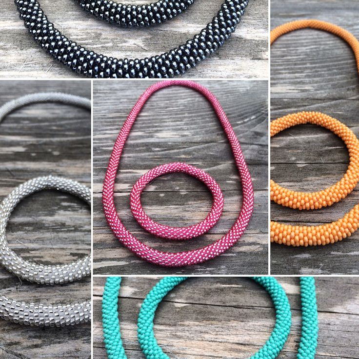 Crochet bead rope