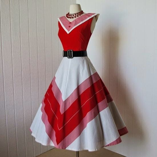 red and white dress
