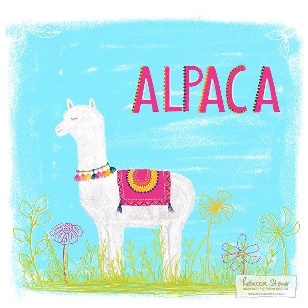 A for Alpaca - Week 1 - Animal Alphabet by Rebecca Stoner www.rebeccastoner.co.uk