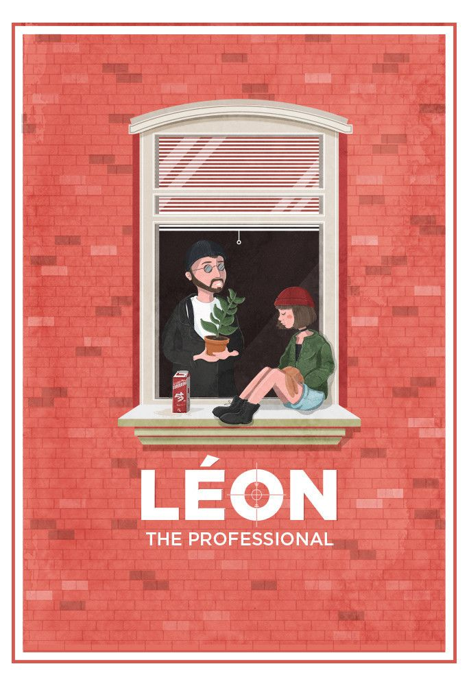 "xombiedirge:  Léon & Mathilda by Maria Suarez Inclan / Tumblr 13"" X 19"" giclee print, numbered edition of 30. Available HERE. Part of the ""I am the Law/A Life of Crime"" art show at Hero Complex Gallery / Facebook. All artwork available online, HERE."