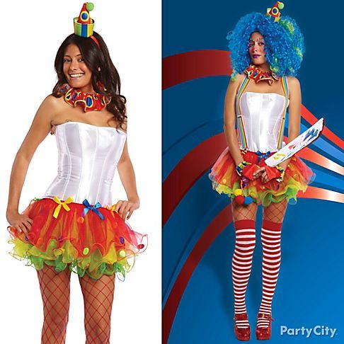 on a classic clown costume clown outfitsclown costumesadult - Classic Womens Halloween Costumes
