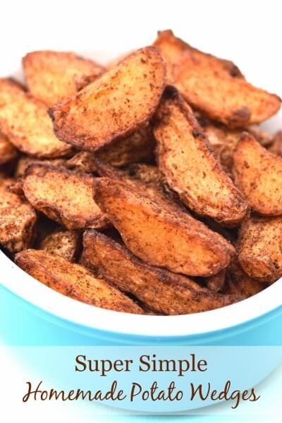 Really easy homemade potato wedges that take just minutes to prepare - with free printable recipe sheet for kids from Eats Amazing UK