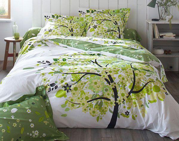 linge de lit arbre naïf | becquet