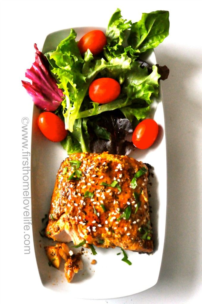Honey Balsamic Teriyaki Salmon..Yum! Tastes just like the one at Macaroni Grill #salmon #recipes #dinnerideas