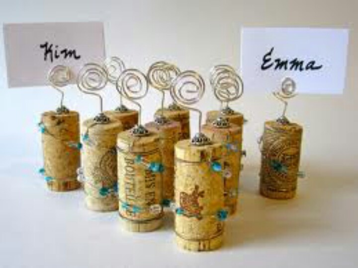 custom listing for adrienne tiffany blue wedding place card holder set of glass bead wrapped wine corks