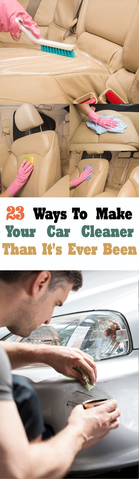 Car cleaning hacks and other cleaning tips for just about anything and for every room in the house