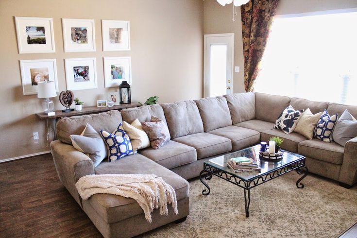 Sectional: Ashley Furniture || Frames: Ikea || Rug: Home Depot || Cozy living room