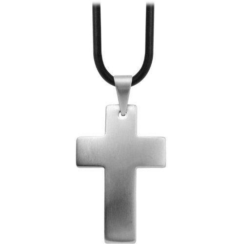 Inox Jewelry Men's 316L Stainless Steel Plain Cross Raised Dome Pendant INOX Jewelry. $15.00. Save 57% Off!
