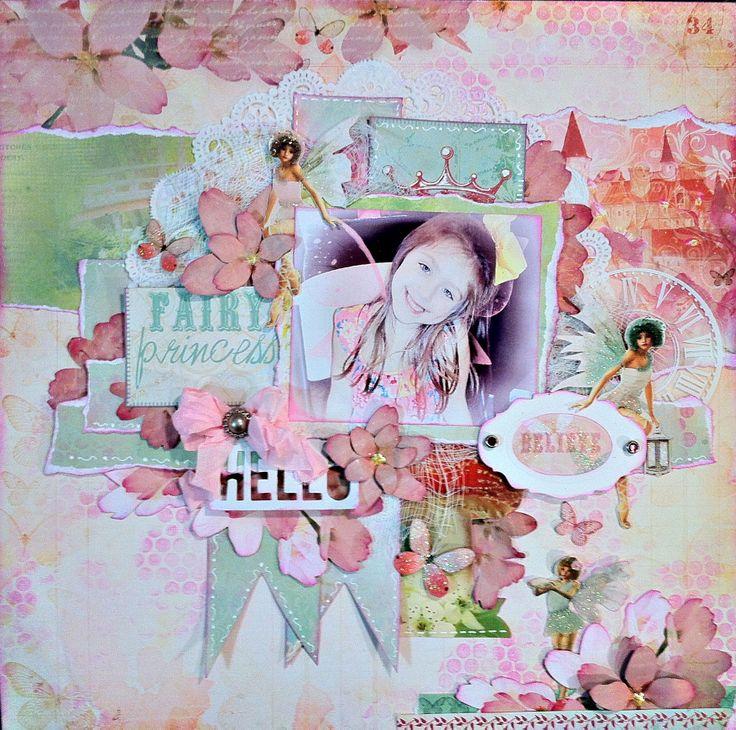 """Fairy Princess"" CT work Flying Unicorn Dec KOM ""Magic"" - Scrapbook.com"