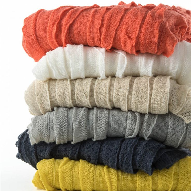 These fine knit, rippled throw rugs are the perfect way to add some fresh Spring colour to your home. Ultra soft, lightweight & washable. Choose from Coral, Indigo, Ivory or Latte.