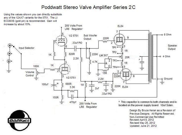 stereo tube amp schematics pdf