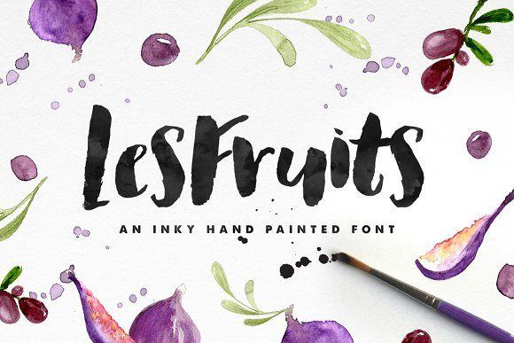Les Fruits Brush Font by Nicky Laatz on @creativemarket