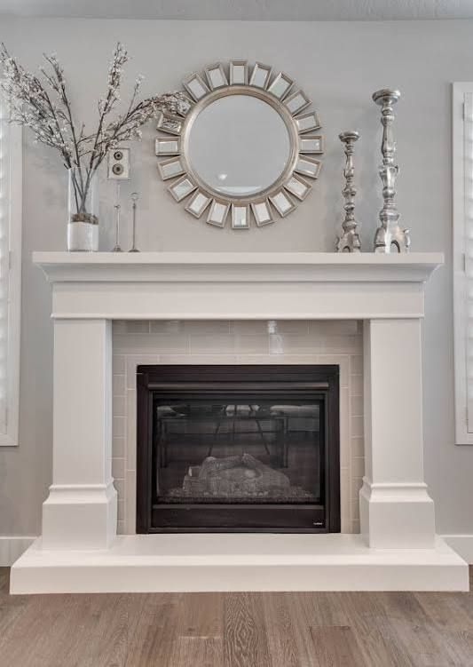 prefab fireplace mantel