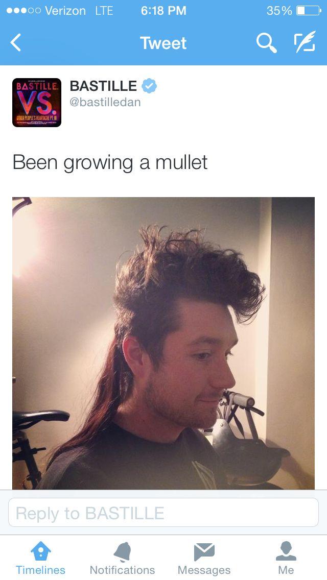 Dan Smith of Bastille, growing a mullet