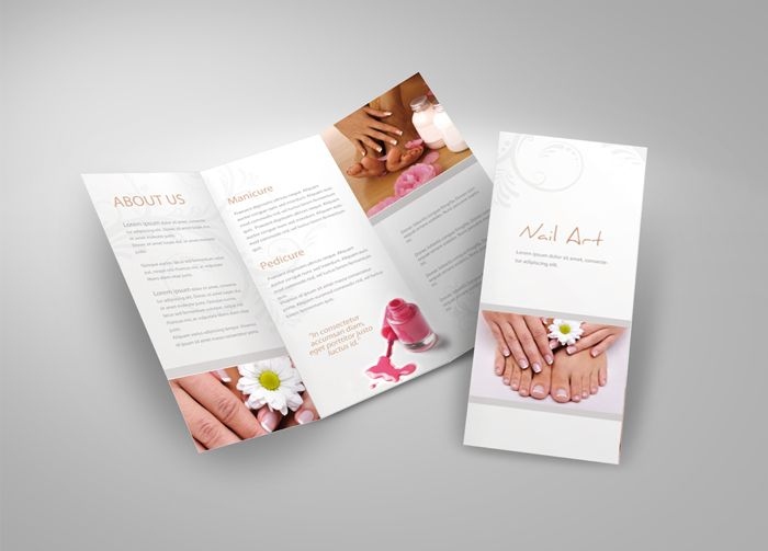Tri-Fold Brochure For Cosmetic Studio By Esteeml.Deviantart.Com On