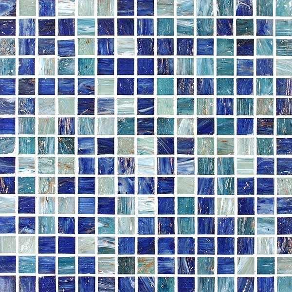 Tesserae Blends Glass Tiles (Baltic Sea)