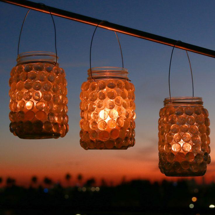 how to make jar lanterns