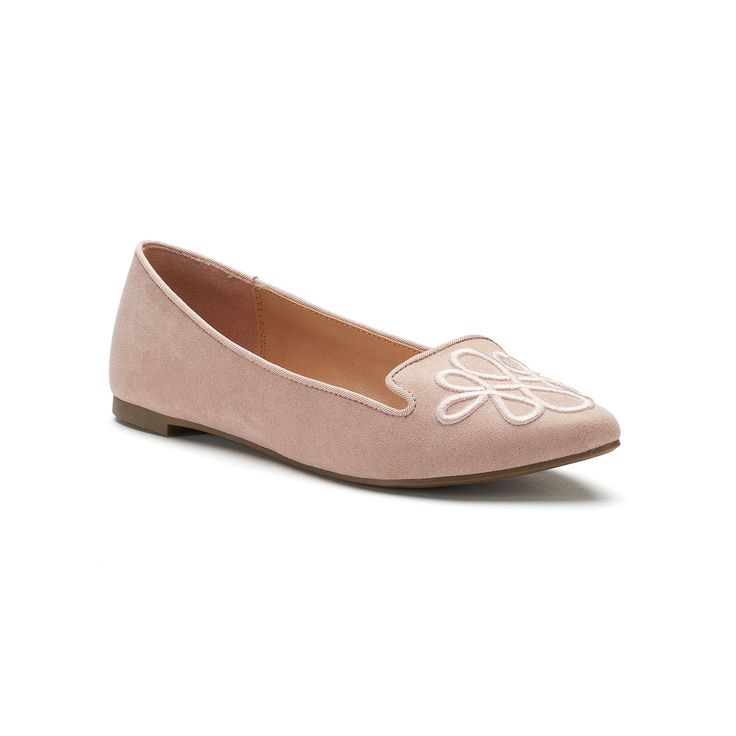 LC Lauren Conrad Calla Women's Pointed Loafers, Natural