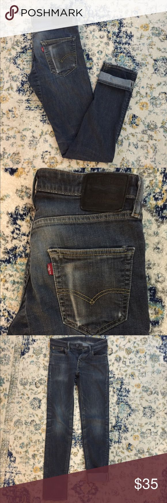 Levi jeans Men's Levi 511 jeans but I like to call them unisex cause they could worn by either. Super cute boyfriend style for the ladies! The size on tag is 30x34 I'm a size 27 and these fit me(for reference) great condition. Urban Outfitters Jeans Boyfriend