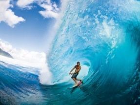 Jamie O'Brien in Tahiti. Photo: Zak Noyle