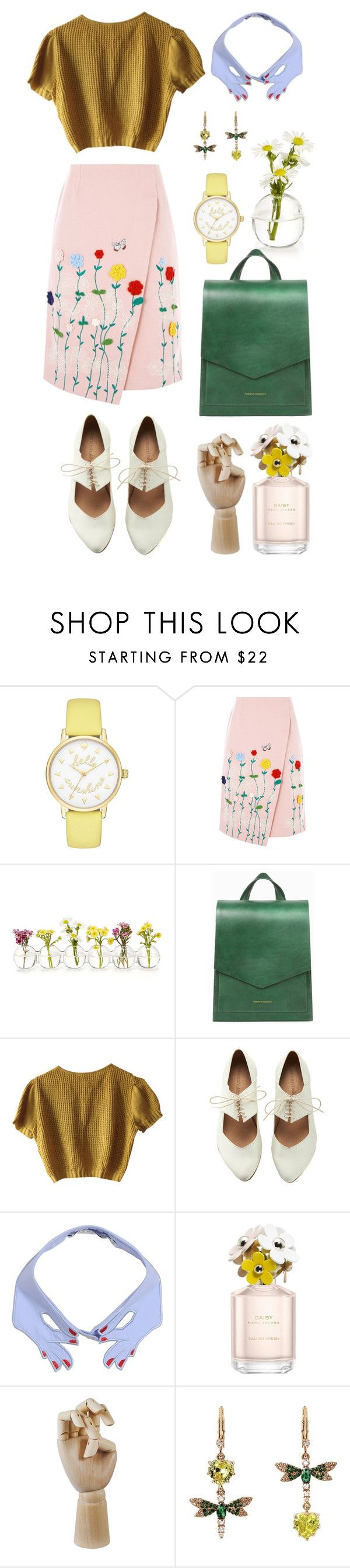 """Flowery"" by bechs on Polyvore featuring Kate Spade, VIVETTA, Schumacher, Marc Jacobs, HAY, Betsey Johnson and vintage"