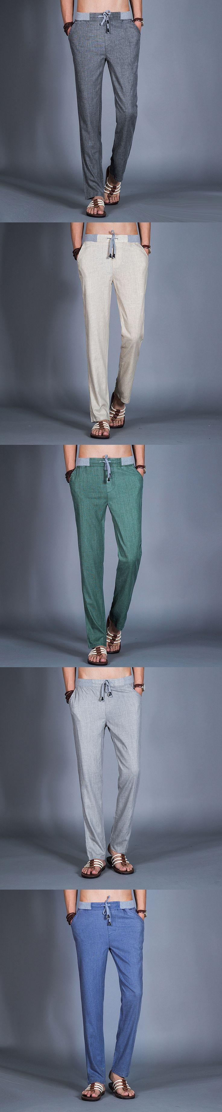 Uwback 2017 New Brand Autumn Linen Pants Men Plus Size 3XL Loose Casual Pants Summer Lightweight Pants Long Trousers Men CAA171