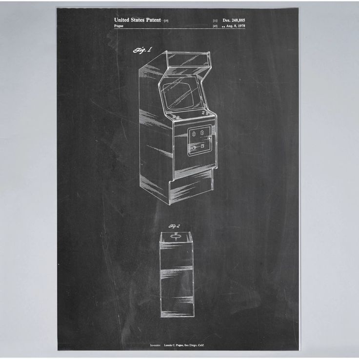 Arcade Game Cabinet - Print