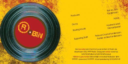 origineel geboortekaartje platenhoes LP met plaat
