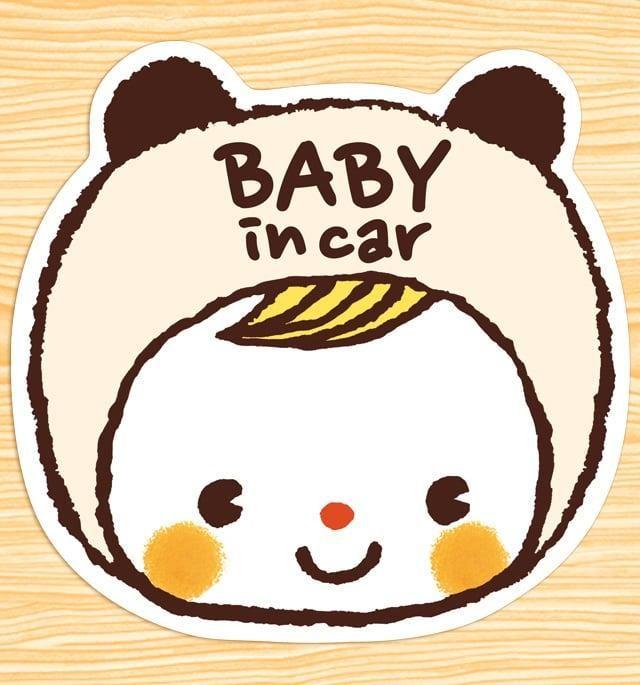 メルカリ商品 Baby In Car マグネットステッカー 耳がかわいいシロクマちゃん メルカリ カワイイ落書き ステッカー 手作り おもちゃ 車