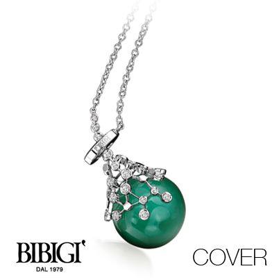 #Bibigi   Collezione #Cover   Collana in oro bianco, oro rosa, diamanti e pietre dure.