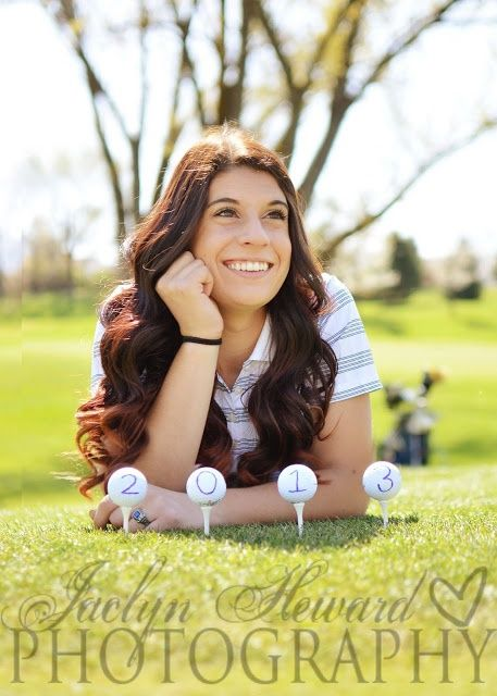 golf senior Picture Ideas For Girls | Golf Senior Girl Ideas. 2013 | Senior Girl Photography